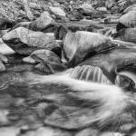 """Black_and_White_Peaceful_Stream"" by lightningman"