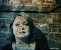 Woman Fading into Walls