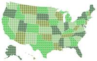 United States Map - Green