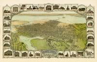 Birds Eye View of Oakland 1900 by WorldWide Archive