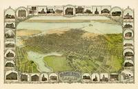 Birds Eye View of Oakland 1900 by WorldWide Archive