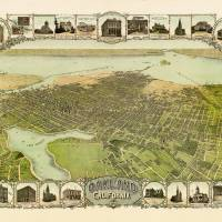 Birds Eye View of Oakland 1900 Art Prints & Posters by WorldWide Archive