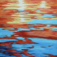 Sunset in the Water Art Prints & Posters by Alina Deutsch