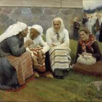 """Albert Edelfelt, Women Outside the Church at Ruoko"" by motionage"
