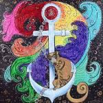 """Monkey Sea by Laura Barbosa - XL"" by ArtPrints"