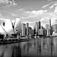 City Singapore In Monochrome Series Art Prints & Posters by Shadow Shoot Gallery