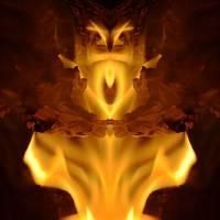 ARIEL, a Fire Portrait, 14 Oct 16 Art Prints & Posters by Nawfal Johnson Nur