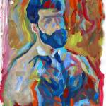 """Bear Naked Artist abstract portrait of a man"" by RDRiccoboni"