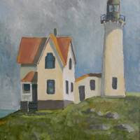 Ferris Point Lighthouse Art Prints & Posters by Robert Holewinski