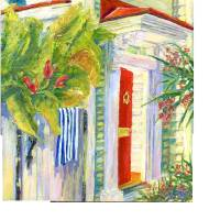 a mezuzah single house Art Prints & Posters by Deborah Reeves