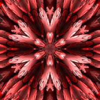 """Abstract Armour Red Flower"" by ecolosimo"