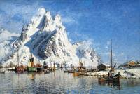 By The Lofoten by Otto Sinding