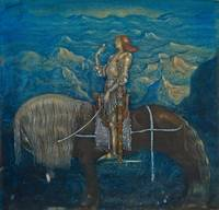 A Knight Rode On by John Bauer, 1915.