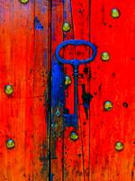 Lombard  - Antique Key at Red Door