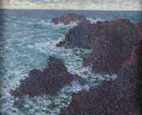 CLAUDE MONET - THE ROCKS AT BELLE ILE, THE WILD CO