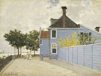CLAUDE MONET - THE BLUE HOUSE, ZAANDAM
