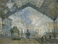 CLAUDE MONET - THE GARE SAINT-LAZARE, 1877