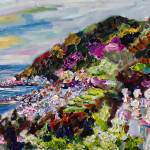 """Amalfi Ravello Impressionist Oil Seascape"" by GinetteCallaway"