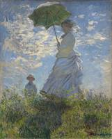 CLAUDE MONET - WOMAN WITH A PARASOL - MADAME MONET