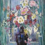 """Flowers in Front of Window by Dorothea Litzinger ("" by motionage"