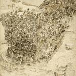 """Garden of a Bathhouse Arles, August 1888 Vincent v"" by motionage"