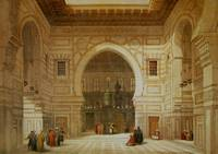 Interior of the Mosque of the Sultan El Ghoree by