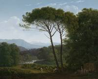 Italianate Landscape with Pines, Hendrik Voogd, 17