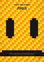 No703 My pixels minimal movie poster