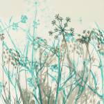 """Botanical in Teal and Gray"" by perovict"