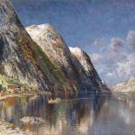"""Karl Kaufmann (1843-1905), fjord"" by motionage"