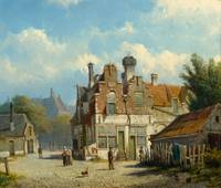 KOEKKOEK, WILLEM (1839 Amsterdam 1895) View of a t