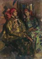Konstantin Alexeevich Korovin 1861-1939 TWO GIRLS