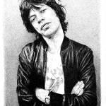 """Mick Jagger"" by BenHuckeArt"