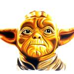 """""""Gold Yoda"""" by BenHuckeArt"""