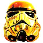 """Gold_trooper_Society6"" by BenHuckeArt"