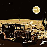 Ol' Desert Driver Art Prints & Posters by Dave Gafford