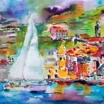 """SailingPastVernazza6000"" by GinetteCallaway"