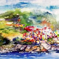 Corniglia Cinque Terre Travel Memories Art Prints & Posters by Ginette Callaway