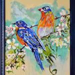 """""""Thomas Dillon Birds Blue Frame"""" by thomasdillon"""