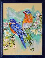 Thomas Dillon Birds Blue Frame