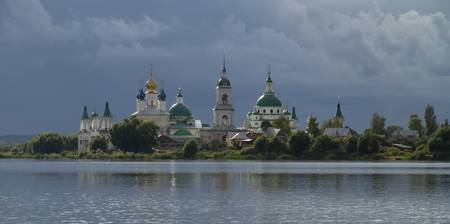Christian monastery in Rostov the Great, Russia.