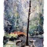 """Duke_Gardens_watercolor20x30"" by RFoxWatercolors"