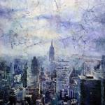 """New York16x24"" by RFoxWatercolors"