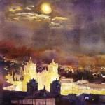 """Plaza de Armas20x30"" by RFoxWatercolors"