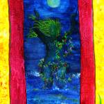 """gaia bathing in the moonlight"" by carmen-b-costello"