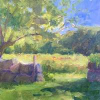 Walls and Field, Haley Farm Art Prints & Posters by Blaney Harris