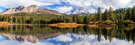 Mount Lassen Reflections Panorama