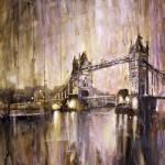 """London_Bridge16x24"" by RFoxWatercolors"