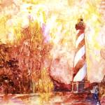 """""""NC_Lighthouse_watercolor"""" by RFoxWatercolors"""