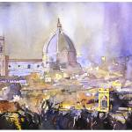 """Florence_Duomo16x24"" by RFoxWatercolors"